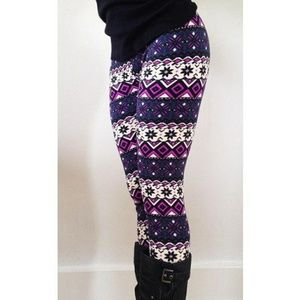 Pants - NWOT printed leggings